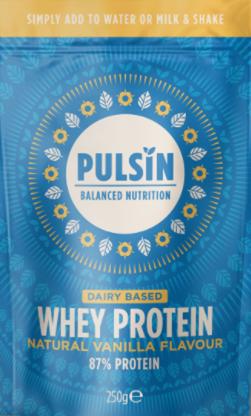 Pulsin' Natural Vanilla Flavour Whey Protein