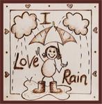 Leah's Cards 'I Love Rain'
