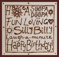 Leah's Cards 'Happy Birthday – Sooper Dooper'
