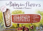 Le Pain des Fleurs Chestnut Crispbread Organic