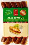 Viana Real Jumbo Mild Smoked Veggie Hot Dogs 275g