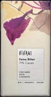 Vivani Dark Feine Bitter 71% Chocolate 100g