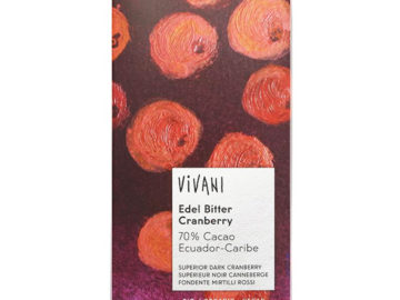 Vivani Ecuador Cranberry Chocolate Organic