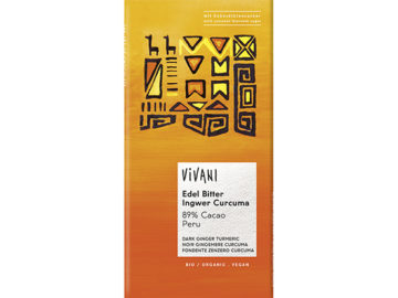 Vivani 89% Cacao Peru Dark Chocolate with Ginger & Turmeric Organic