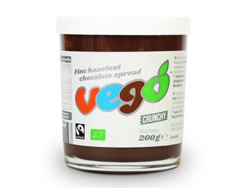 Vego Fine Hazelnut Chocolate Spread Crunchy Organic