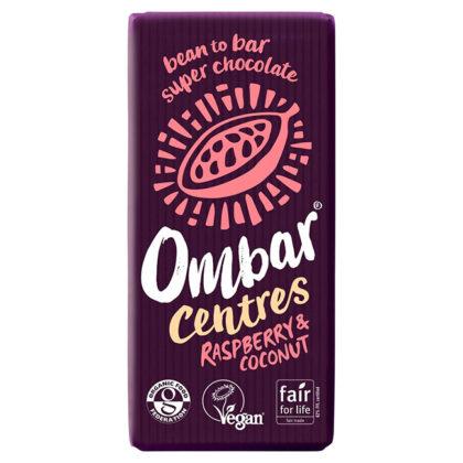 Ombar Centres Raspberry & Coconut Bar Organic 70g