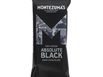 Montezuma's Absolute Black 100% Cocoa Dark Chocolate 25g