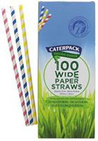 Caterpack Enviro Range 100 Wide Paper Straws