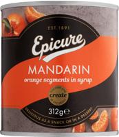 Epicure Mandarins In Fruit Juice ~ No Added Sugar