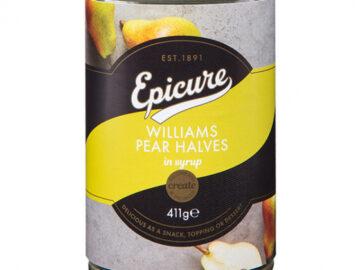 Epicure Williams Pear Halves In Fruit Juice