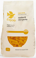 Doves Farm Organic Maize & Rice Fusilli Pasta 500g
