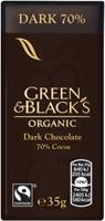 Green & Black's Dark 70% Chocolate Organic 35g