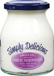 Simply Delicious Garlic Mayonnaise Organic 300ml