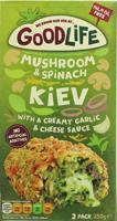 Goodlife Mushroom & Spinach Kiev & Creamy Garlic Cheese Sauce