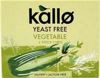 Kallo Yeast Free Vegetable Stock Cubes