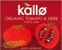 Kallo Tomato Herb Stock Cubes Organic