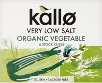 Kallo Low Salt Vegetable Stock Cubes Organic