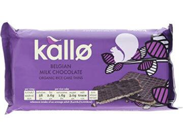 Kallo Belgian Milk Chocolate Coated Thin Rice Cakes 90g