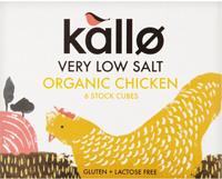 Kallo Very Low Salt Chicken Stock Cubes Organic