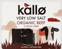 Kallo Very Low Salt Beef Stock Cubes Organic