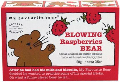 Artisan Biscuits Blowing Raspberries Bear Biscuits