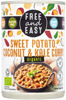 Free & Easy Sweet Potato Coconut & Kale Curry Organic