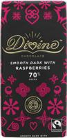 Divine 70% Dark Chocolate With Raspberries Fairtrade