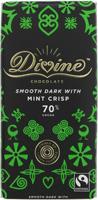 Divine Mint Crisp Smooth Dark Chocolate Fairtrade