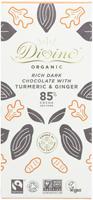 Divine Rich Dark Chocolate With Turmeric & Ginger Organic