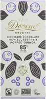 Divine Rich Dark Blueberry & Popped Quinoa Chocolate Organic