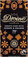 Divine 70% Dark Chocolate With Ginger & Orange