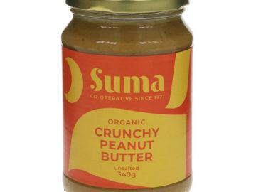 Suma Crunchy Unsalted Peanut Butter Organic 340g