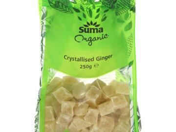 Suma Crystallised Ginger Organic 250g