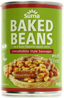 Suma Baked Beans & Lincolnshire Style Vegan Sausages