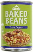 Suma Baked Beans With Vegan Burgers