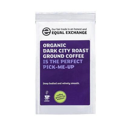 Equal Exchange Dark City Roast & Ground Coffee Fairtrade Organic