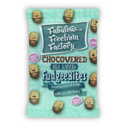 Fabulous Freefrom Factory Sea Salted Chocovered Fudgee Bites