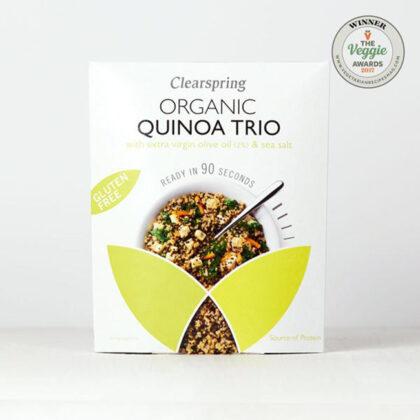 Clearspring Quick Cook Quinoa Trio Organic