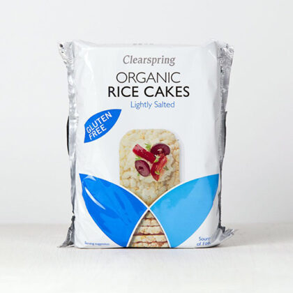 Clearspring Rice Cakes Lightly Salted Organic ~ Gluten Free