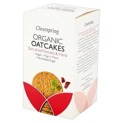 Clearspring Sun-Dried Tomato & Herb Oatcakes Organic