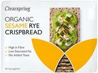 Clearspring Sesame Rye Crispbread Organic