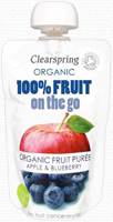 Clearspring Apple & Blueberry Puree On The Go Organic
