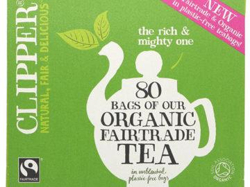 Clipper Tea Fairtrade Organic ~ 80 bags