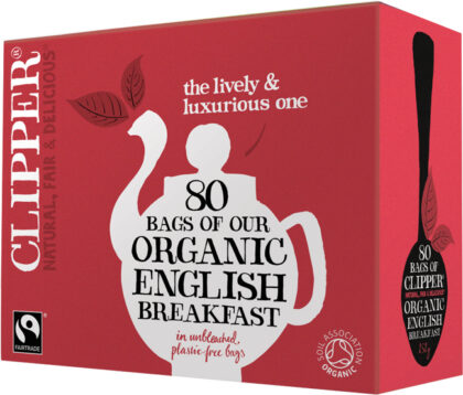 Clipper English Breakfast Tea Bags Organic Fairtrade 80's