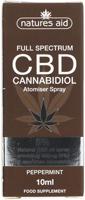 Nature's Aid CBD Peppermint Cannabidiol Atomiser Spray 5%