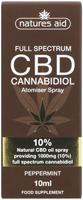 Nature's Aid CBD Peppermint Cannabidiol Atomiser Spray 10%