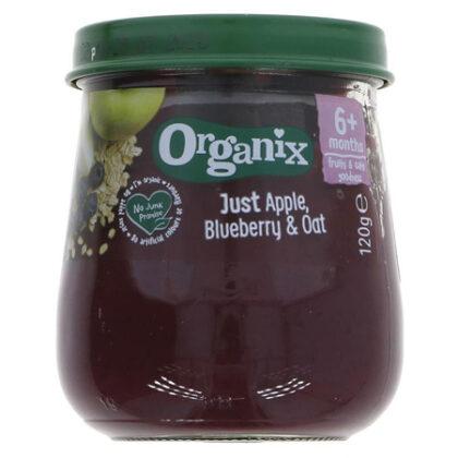 Organix Just Apple Blueberry & Oat Baby Food