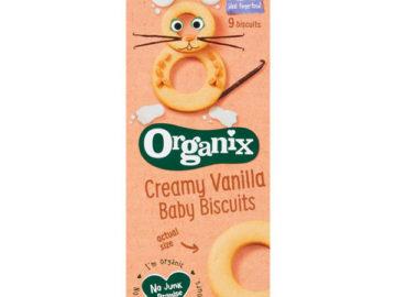 Organix Creamy Vanilla Baby Biscuits Organic