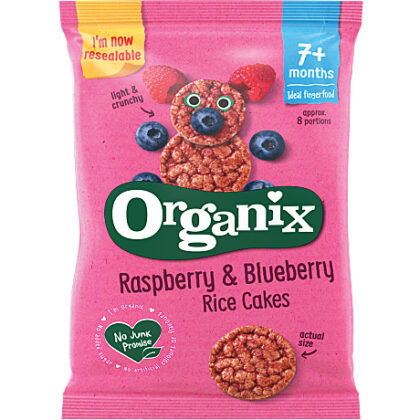 Organix Finger Foods Raspberry & Blueberry Rice Cakes Organic
