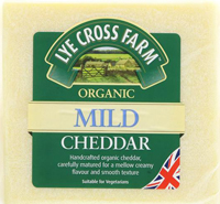 Lye Cross Farmhouse Mild Cheddar Cheese Organic 245g